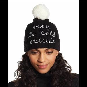 New Kate Spade ♠️ Baby It's Cold Beanie Hat